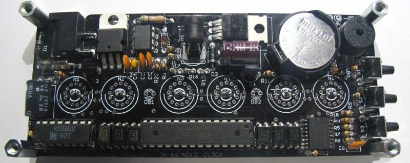 In-16 Nixie Tube Clock KIT DIY. PCB.