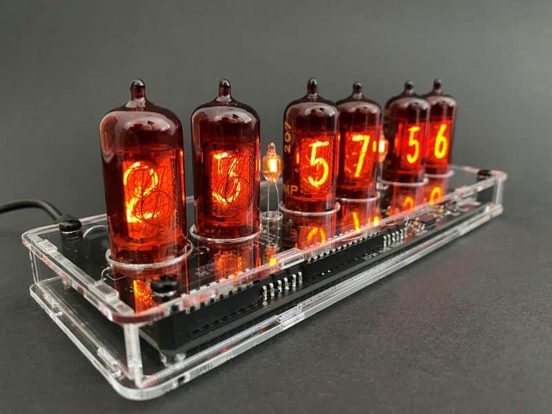 Z570M/Z573M/Z574M Nixie Tube Clock KIT With Transparent Acrylic Case