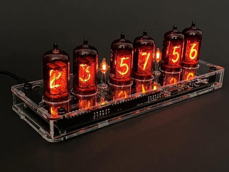 Z570M/Z573M/Z574M Nixie Tube Clock KIT With Black Acrylic Case