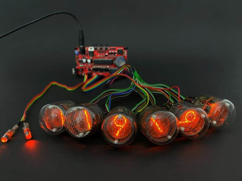 Universal Nixie Clock Controller With Remote In-4 Nixie Tubes.