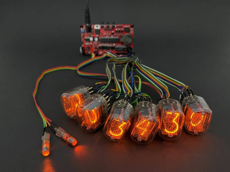 Universal Nixie Clock Controller With Remote In-12 Tubes.